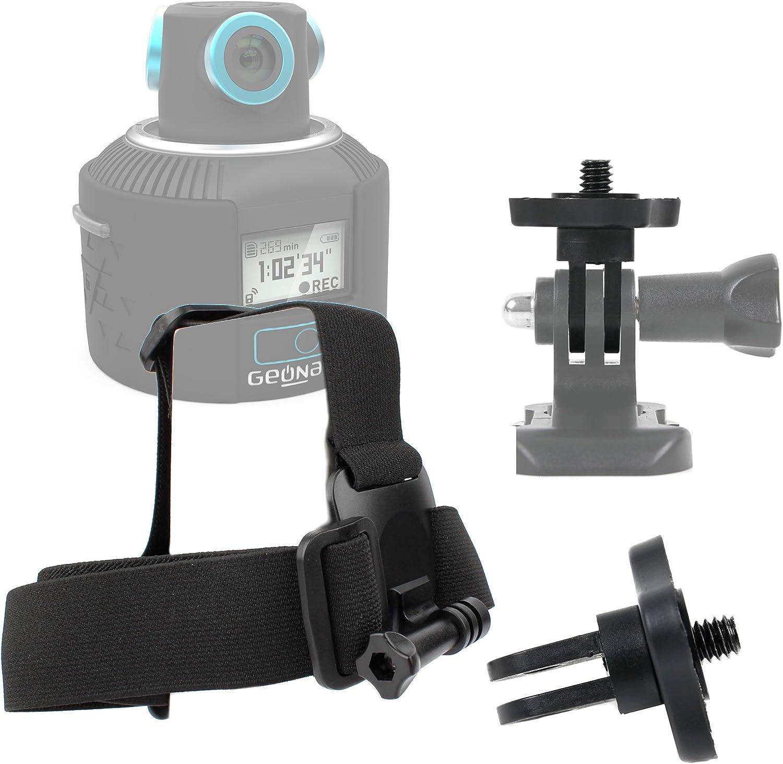 Compatible with Geonaute 360 DURAGADGET Action Camera Helmet Mount