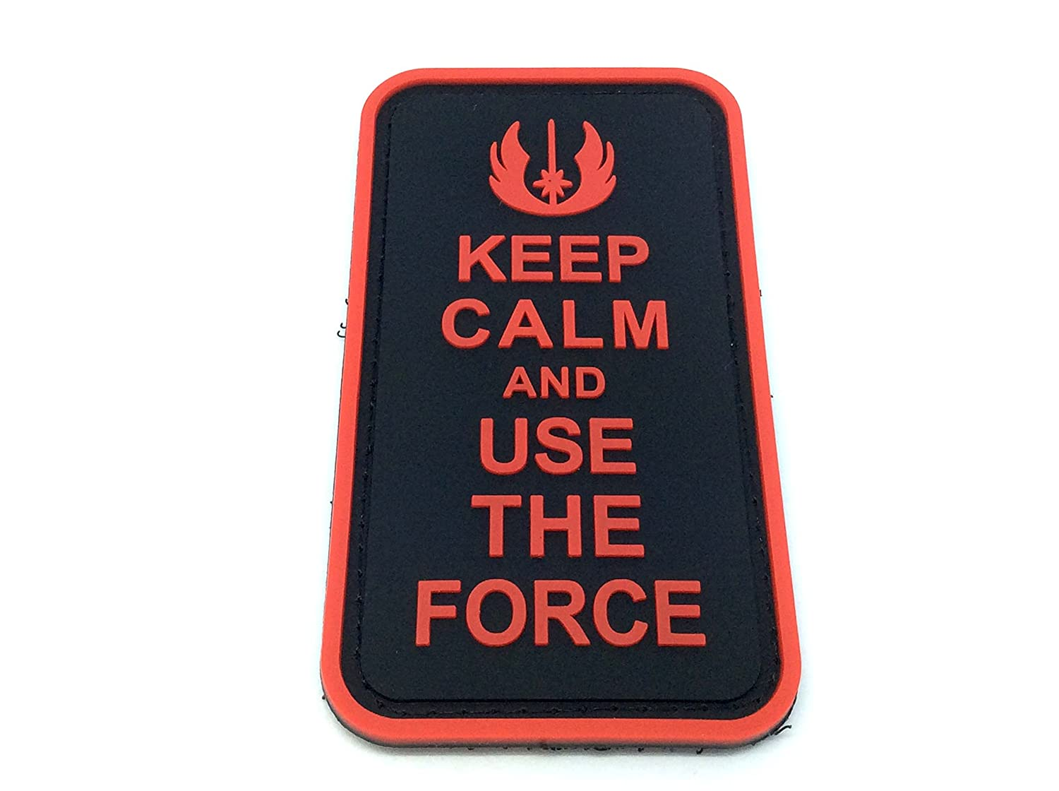 Keep Calm And Use The Force Rosso Airsoft Patch PVC Toppa Patch Nation