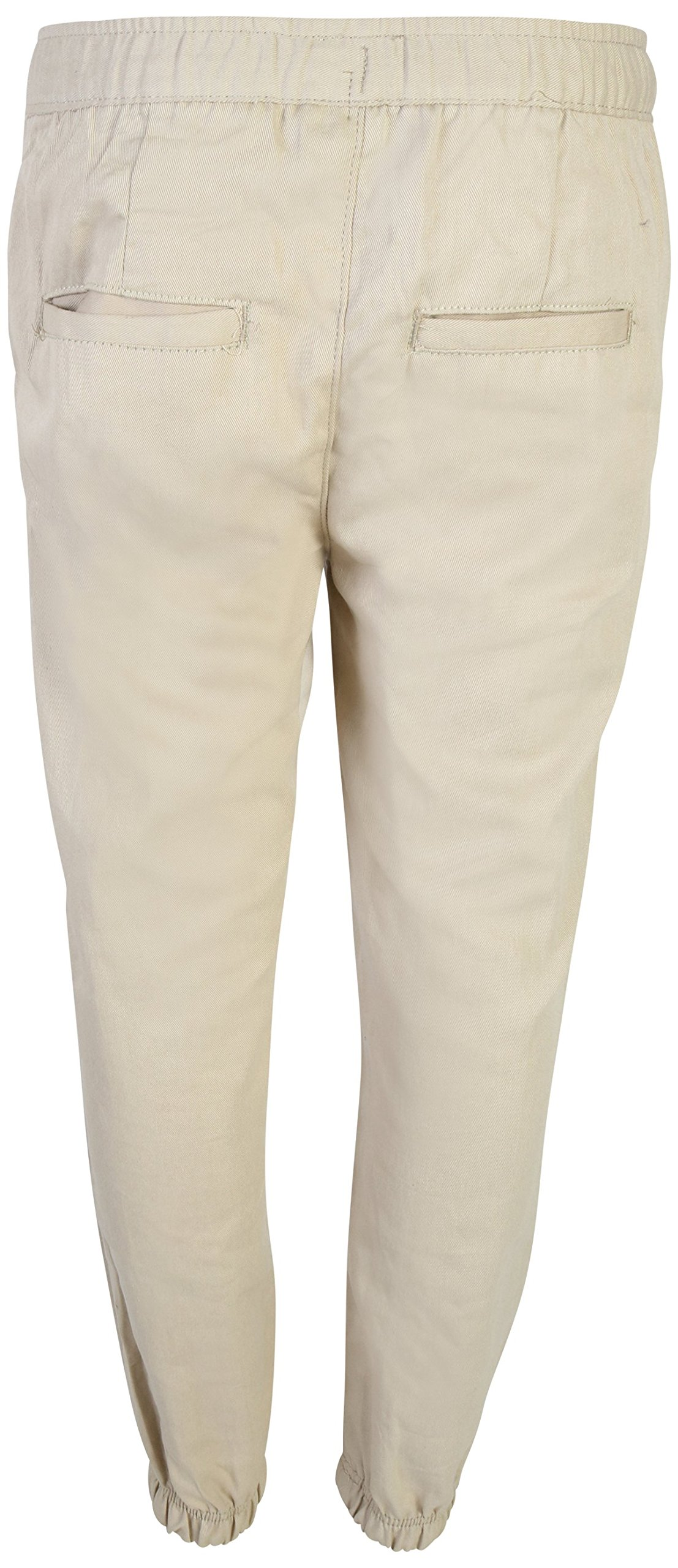 Beverly Hills Polo Club Boys School Uniform 2 Pack Twill Pull-On Jogger Pant with Adjustable Waist, Khaki, 14' by Beverly Hills Polo Club (Image #6)