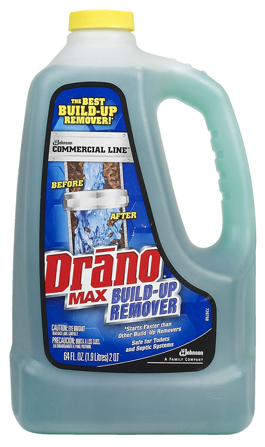 Amazon.com: Drano Max Build-Up Remover - 10115 64Oz Drano Build-Up ...