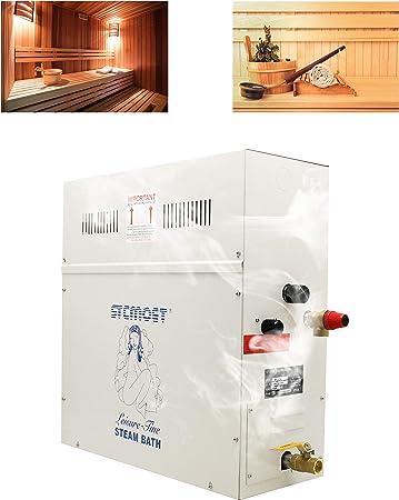 Hanchen 6KW Generador de Vapor para Sauna/Baño Turco/Spa Dentro de 6m³ 220V Temperatura Ajustable 35-55℃ Control de Tiempo 1-12h CE: Amazon.es: Bricolaje y herramientas