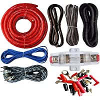 takestop® Kit Completo Cables 8AWG para Amplificador
