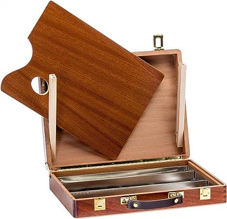 Lienzos Levante Caja de Pinturas Vacia, Madera de Sapely, 4-S, 37x28x7 cm: Amazon.es: Hogar