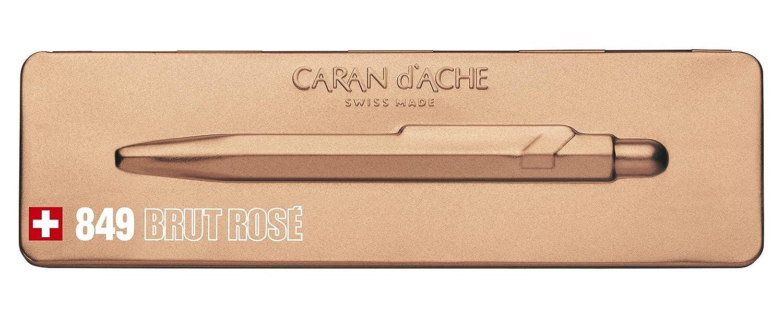 Caran Dache Ballpoint Pen with Goliath Blue Medium Cartridge Brut Rose