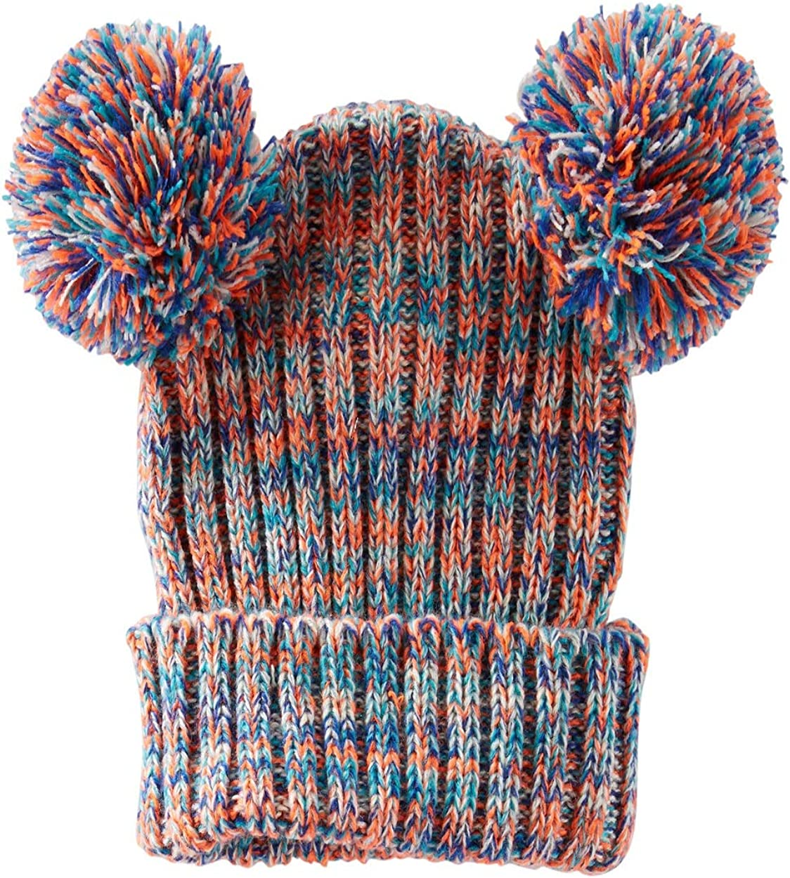 4-6X OshKosh Bgosh Little Girls Multicolor Pom Pom Hat