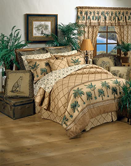 Kona Tropical Bedding 8 Pc King Comforter Set (Comforter, 1 Flat Sheet, 1