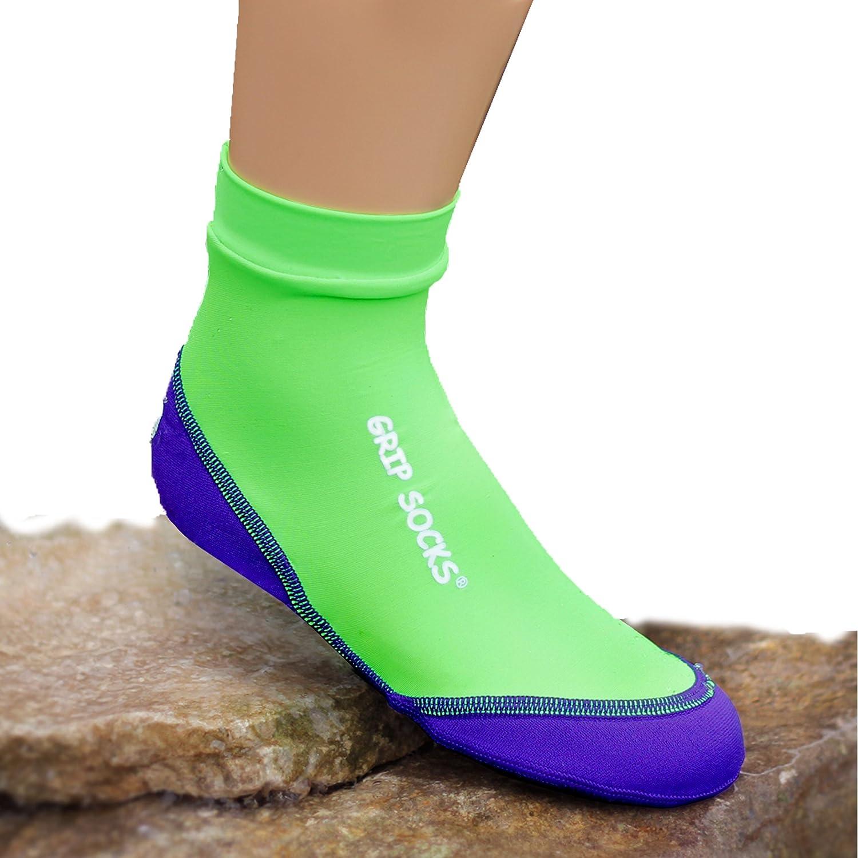 サンドソックス シュノーケリング ビーチサッカー サンドバレーボール B014GUXD0S Grip Socks Lime Green L: Toddler shoe sizes 10-11 L: Toddler shoe sizes 10-11 Grip Socks Lime Green