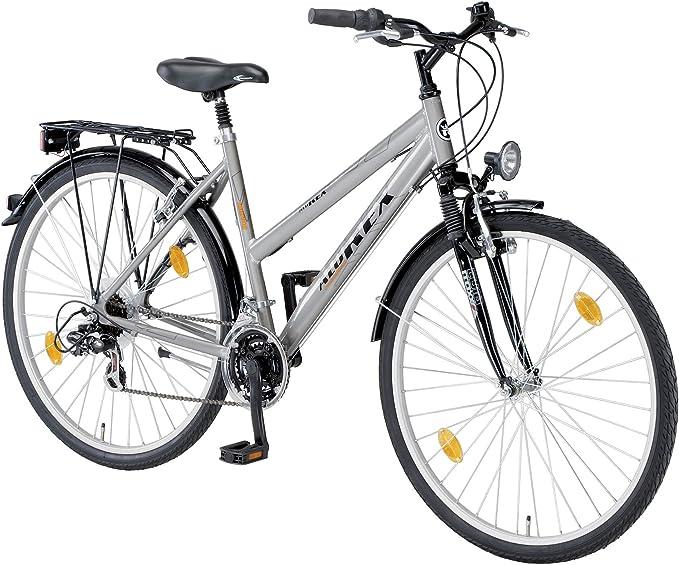 Rex ALU Bicicleta híbridas de Ciclismo para Mujer, tamaño 26 ...