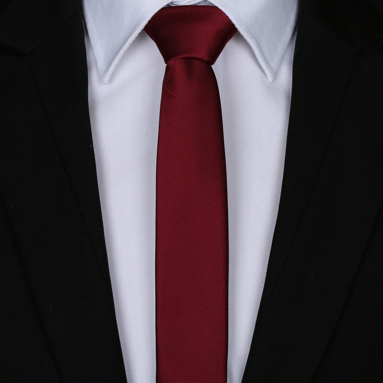 Elviros Corbata fina de moda ecológica para hombre de 1.6 pulgadas ...