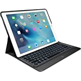 Logitech Create Backlit iPad Keyboard/Case with Smart Connector Technology for iPad Pro (1st Generation), QWERTY, UK Layout - 12.9 inch, Black