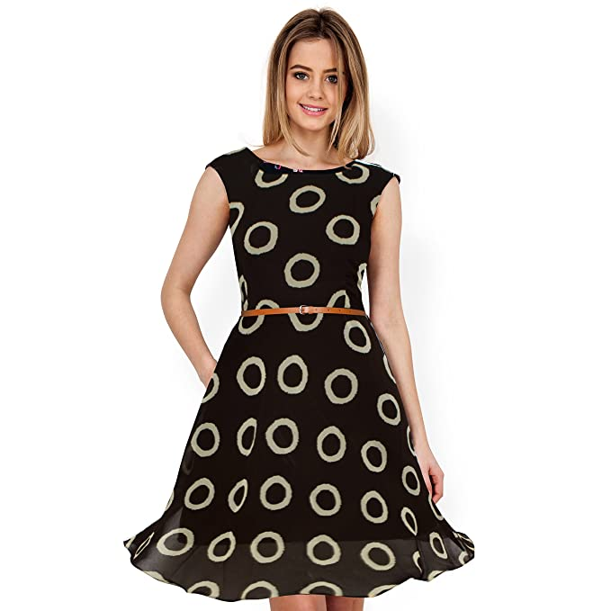 58e22a09b04 Great Indian Sale Dresses for women western wear Coffee color Georgette  fabric for party wear buy