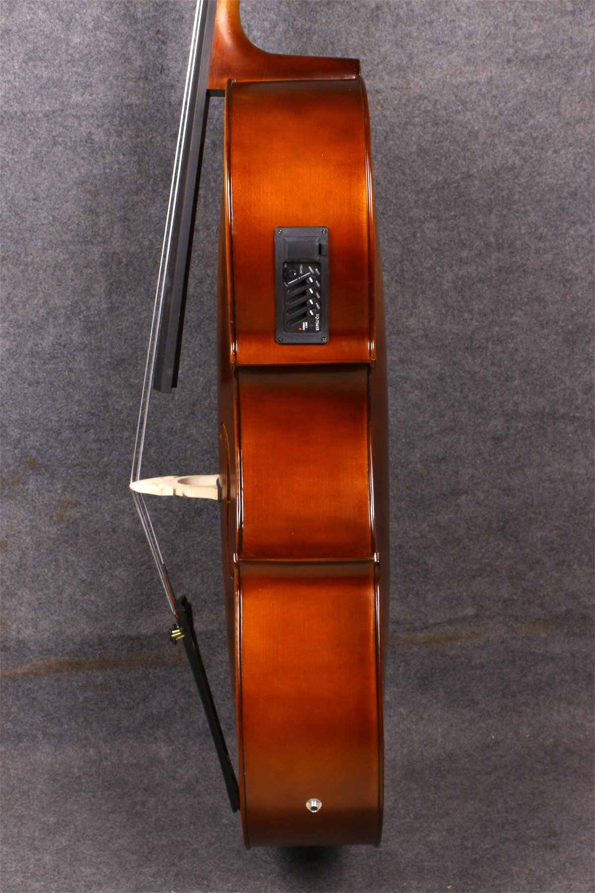Yinfente Electric Acoustic Cello 4/4 Solid Maple Spruce wood Ebony Fittings Sweet Sound With Cello Bag Bow (Brown) by yinfente (Image #3)