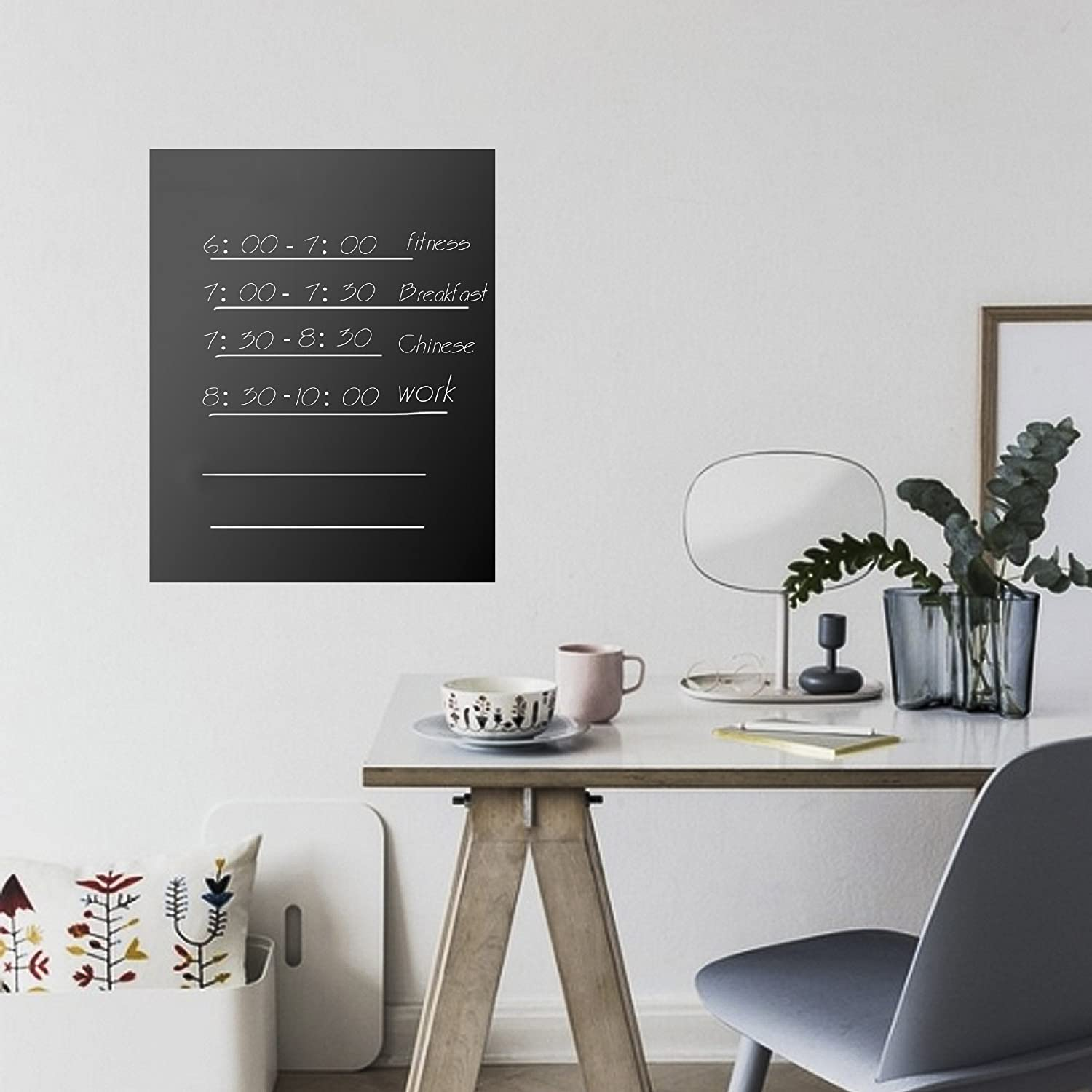 Eachgoo Chalkboard Vinyl Contact Paper,Blackboard Decal Wall Sticker Removable Chalk Paper 17.5