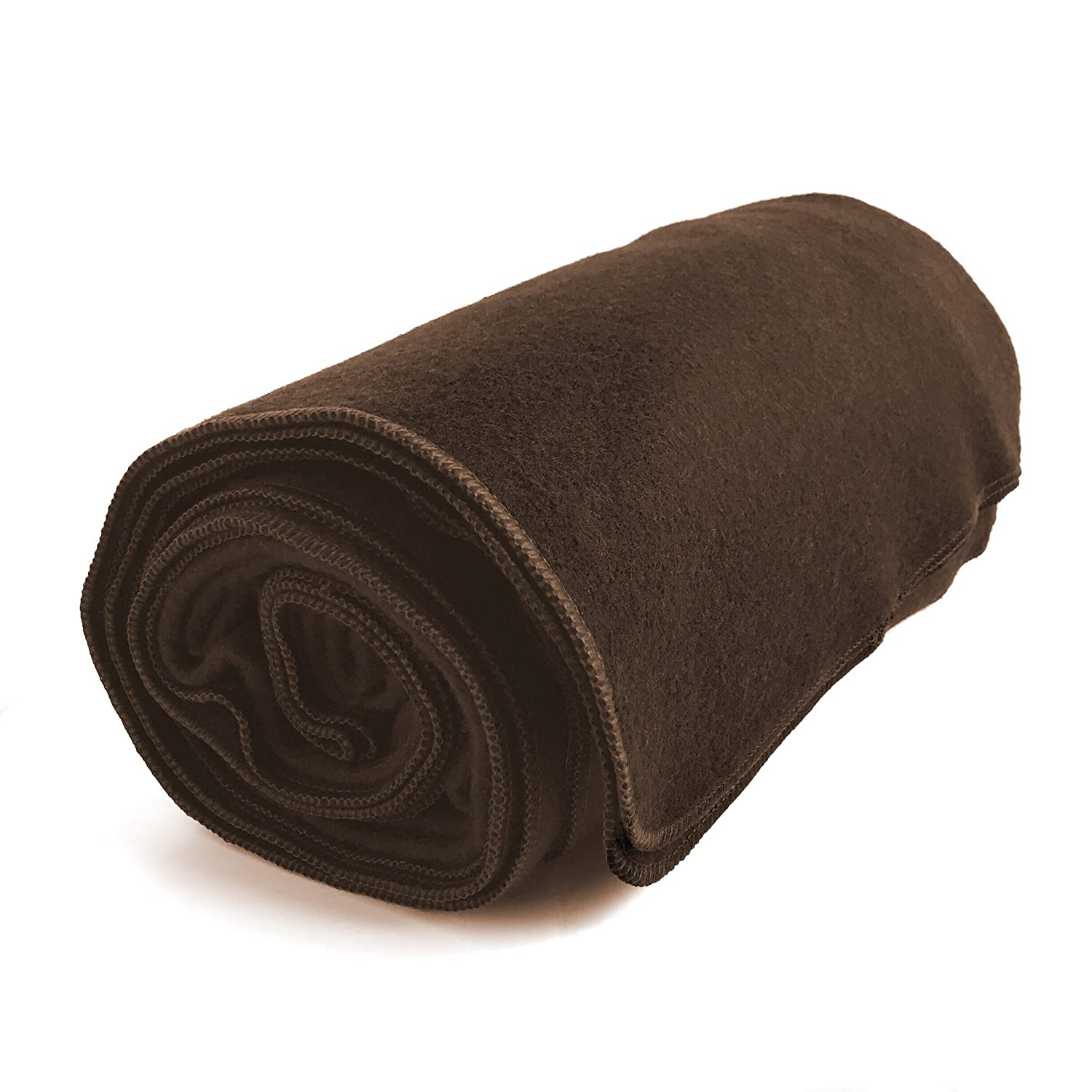 EKTOS 80% Wool Blanket, Brown, Light & Warm 3.7 lbs, Large Washable 66″x90″ Size, Perfect for Outdoor Camping, Survival & Emergency Preparedness Use