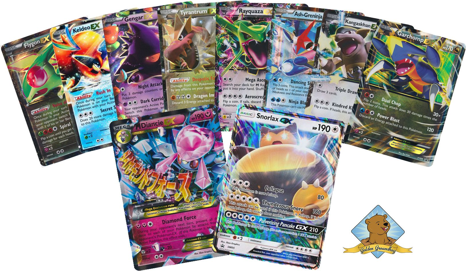 10 Oversize Pokemon Cards! No Duplication - 1 MEGA EX and 1 GX ULTRA RARE! By Golden Groundhog! by GoldenGroundhog