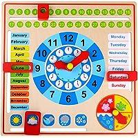 Tooky Toy - Reloj Calendario de Madera
