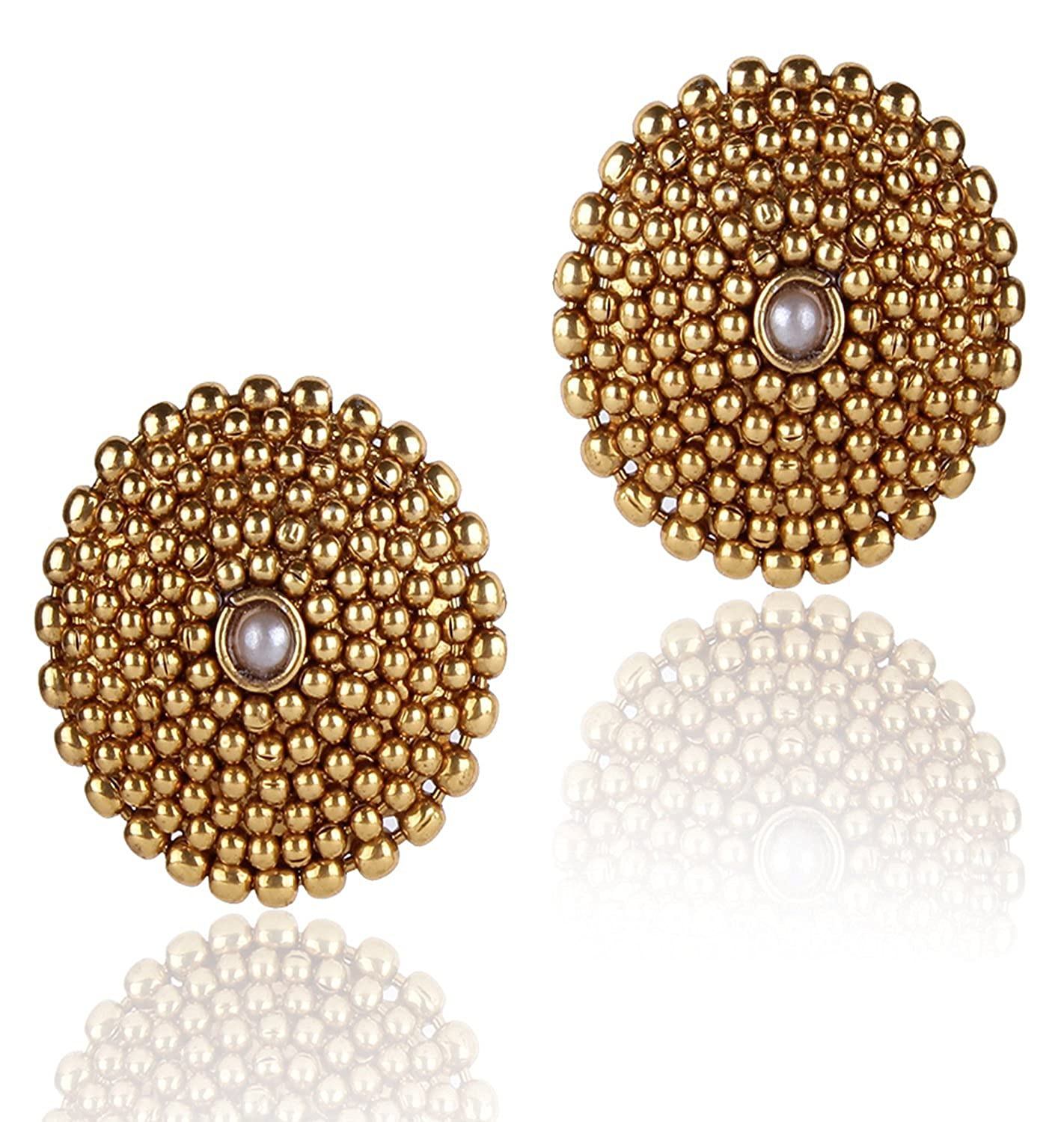 products white stud antique earrings jewellery by traditional green punjabi gold