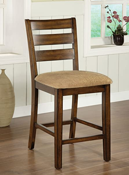 Furniture of America Terri Mission Style Counter Height Chair, Antique Oak - Amazon.com - Furniture Of America Terri Mission Style Counter Height