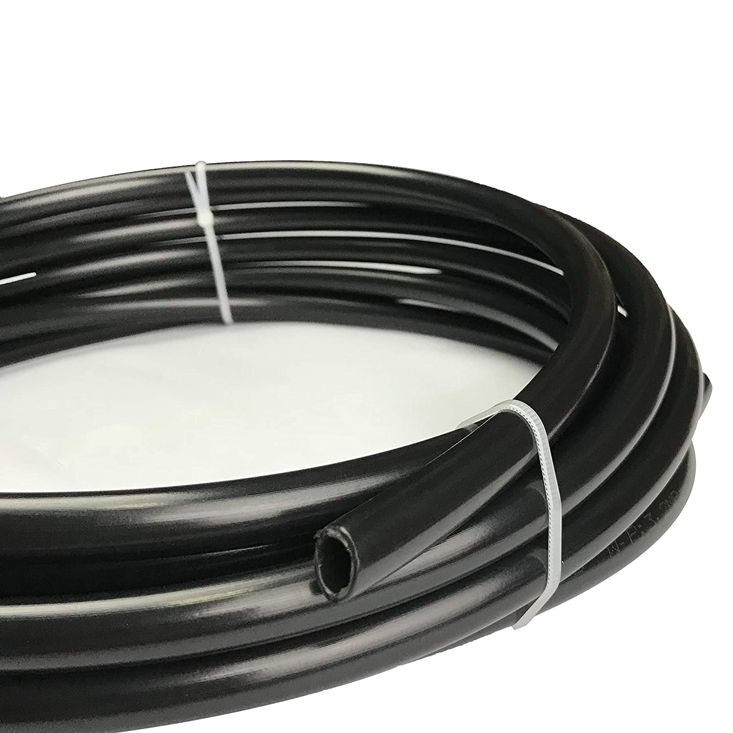 20 feet Fuel Line Nylon Tubing 5//16 ID Hose 3//8 OD Pneumatic Tube for for Air Brake System Or Fluid Transfer Black