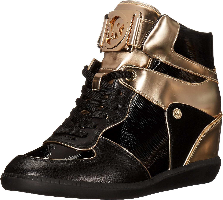 Bring Round and round Human race  Amazon.com | MICHAEL Michael Kors Women's Nikko High-Top Black Suprema  Nappa Sport Sneaker | Fashion Sneakers