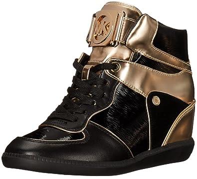 7cc6023e522 Michael Kors Women s Nikko High Top Fashion Sneaker Black 6 ...