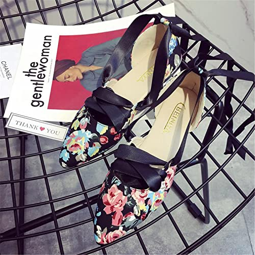 d51a43f56 Jerald Logan Lace up Ballet Flats Women Shoes Cross-Tied Pointed Toe  Strappy Flats Sweet