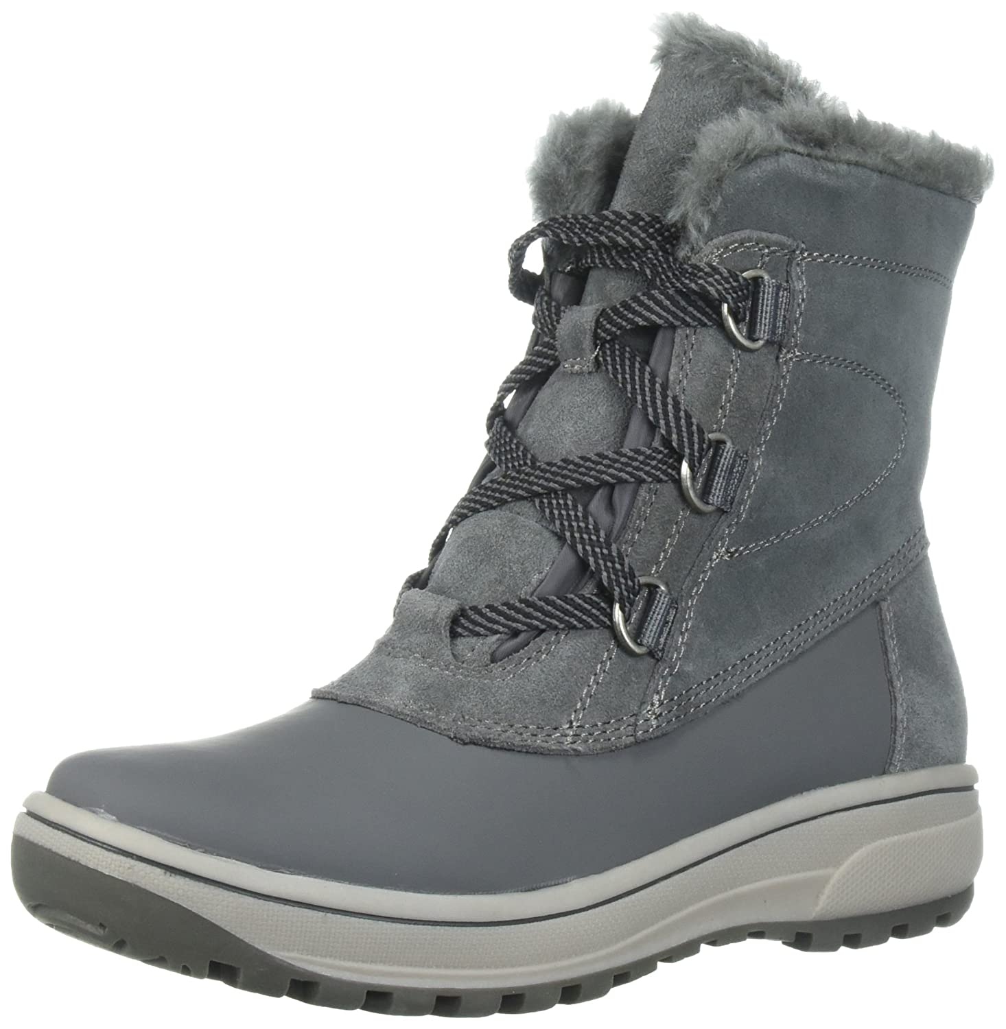 BareTraps Women's Denyce Snow Boot B07196F1LY 5.5 B(M) US|Dk Grey