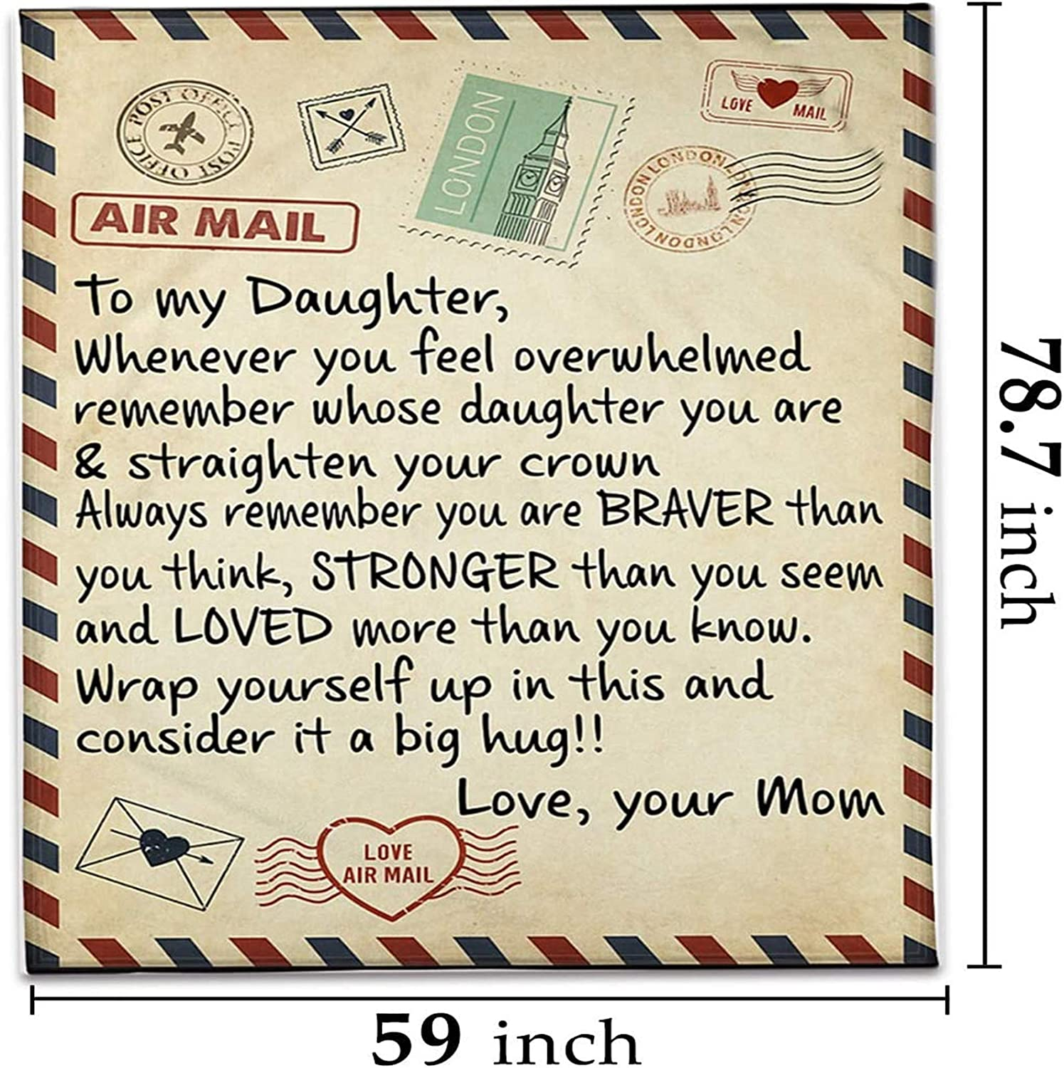 Details about  /By air mail to my son even when I'm not close by  I love you fleece Blanket 2020