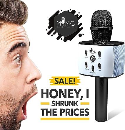 My Mic - Micrófono inalámbrico portátil Karaoke con altavoz ...