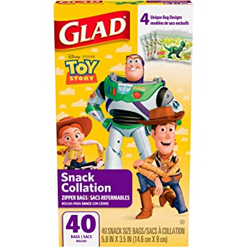 Amazon.com: Glad Disney Pixar Toy Story Snack Collation ...