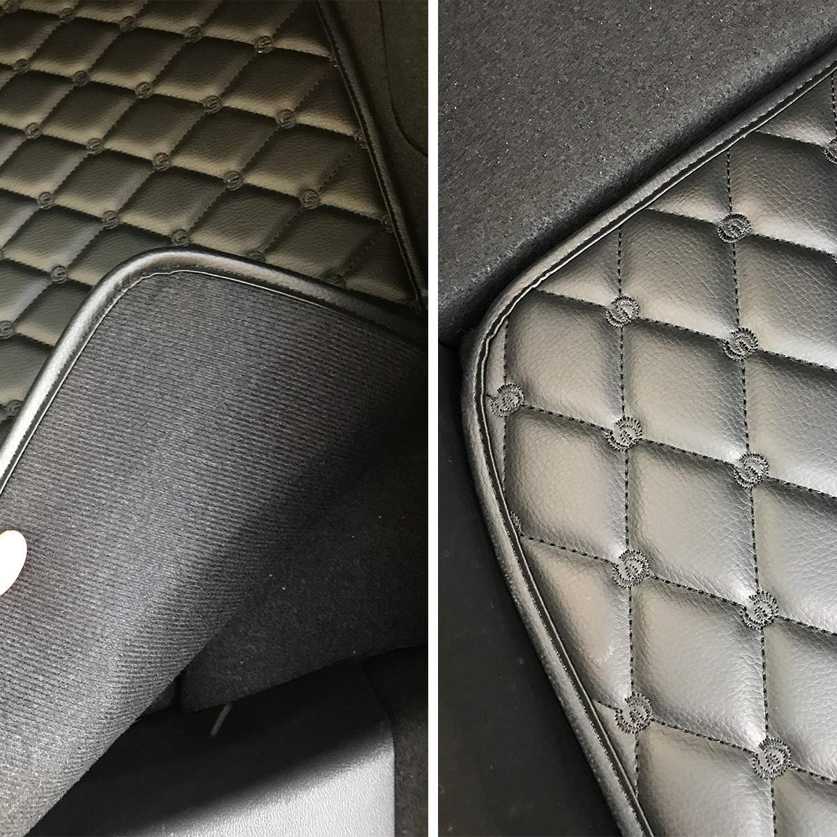 Highest Quality Durable Rubber Fireproof Classic Loop Car Carpet 3 pieces//set Car Floor Mats for Model 3 All Weather Rubber
