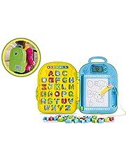 VTech-80-603422 Mochila Educativa Dibuletras Aprende A Escribir L, Color Verde,