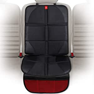 ROYAL RASCALS Car Seat Protector for Child Seats - Protects Upholstery from Stains & Damage with Padded Cover - Organiser Pockets - Universal & fits Isofix - Forward and Rear Facing Baby Seat Liner