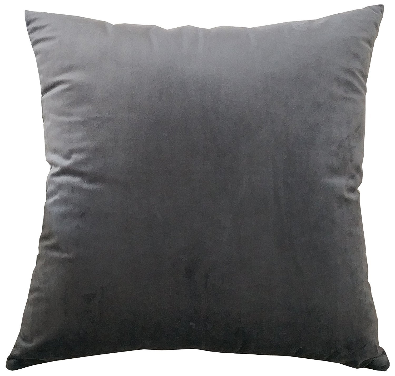 M MOCHOHOME Decorative Microfiber Solid Square Throw Pillow Cover Case Pillowcase Cushion Sham - 22'' x 22'', Dark Grey