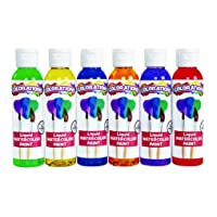 Colorations Liquid Watercolor Paint, 4 fl oz, Set of 6, Non-Toxic, Painting, Kids...