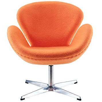 Modway Wing Lounge Chair in Orange