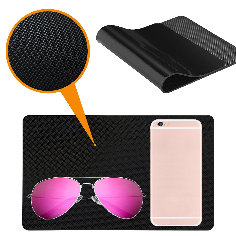 Llaves Alfombrilla Antideslizante para salpicadero de Coche Gafas de Sol 4 Paquetes de 10.5 x 5.7 y 8 x 5.1 de Gel Antideslizante para tel/éfono Celular Monedas SourceTon