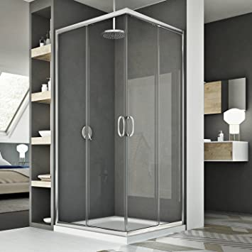 Idralite Mampara de Ducha 90x120CM H185 Transparente Mod. Junior: Amazon.es: Hogar