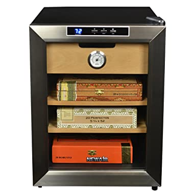 NewAir Cigar Cooler and Humidor, Climate Controlled with Cooling, Holds 250 Cigars, CC-100