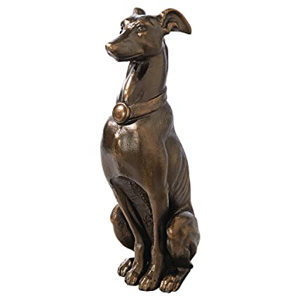 Design Toscano Greyhound Sentinel Cast Iron Dog Statue