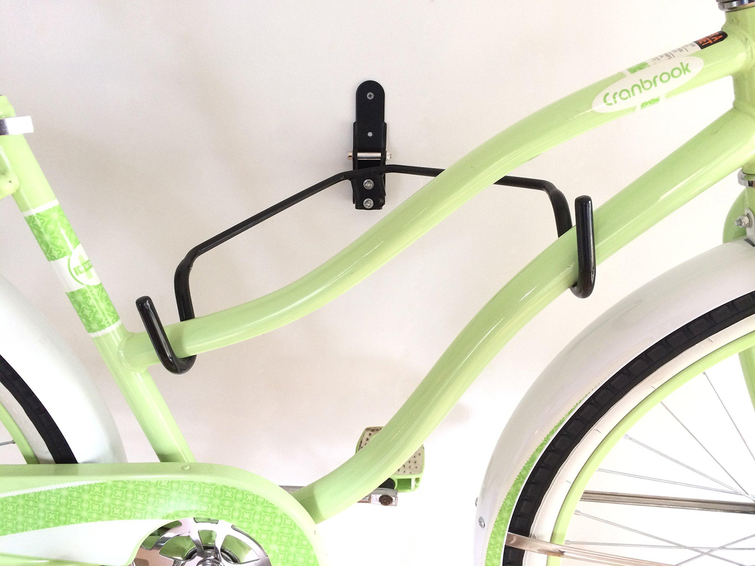 LifeStore Adjustable Tilt Wall Mount Bike Bicycle Storage Rack Hanger Hook by Coastal Provision (Image #3)