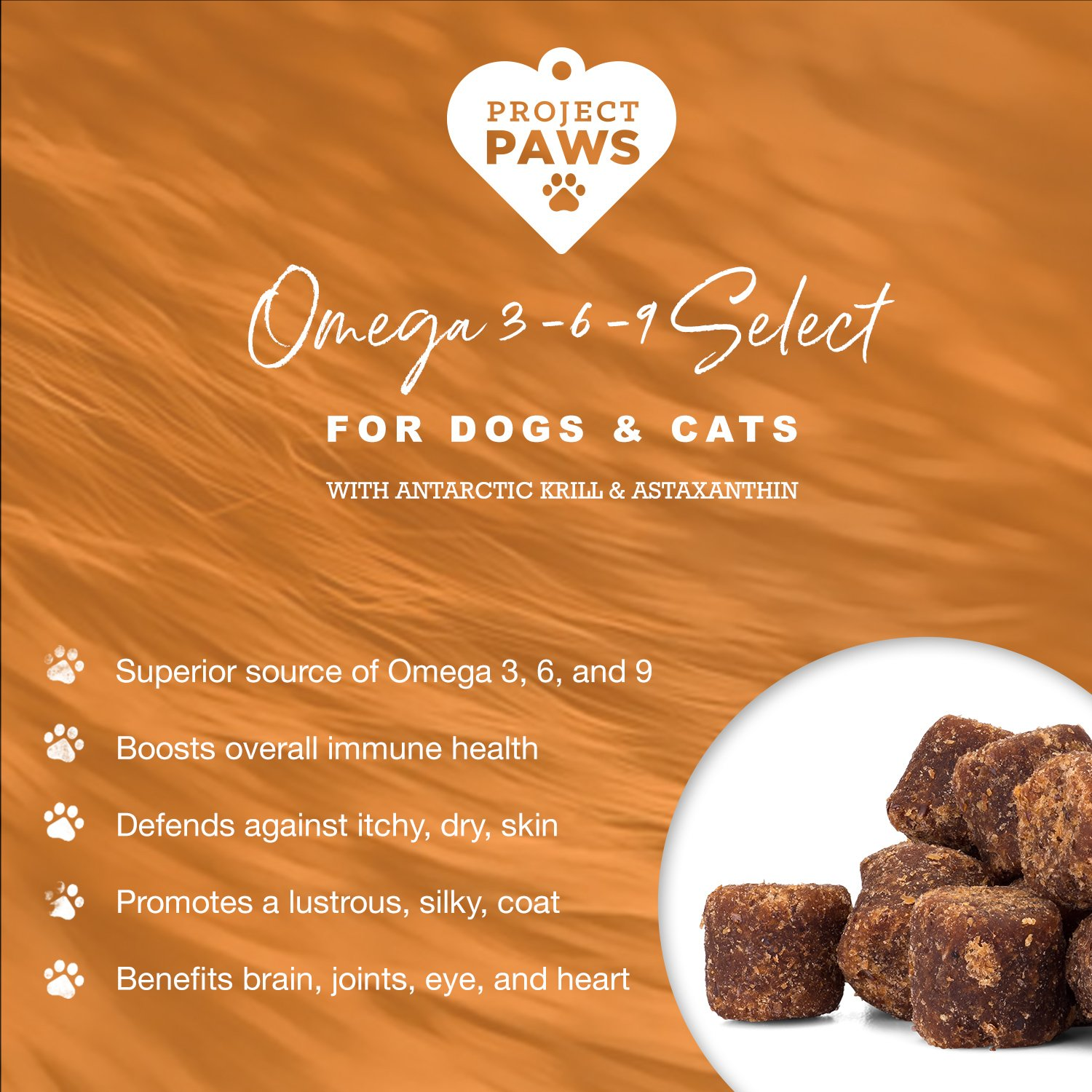 Project Paws Omega 3-6-9 Select Soft Chews 120 Count by Project Paws (Image #4)