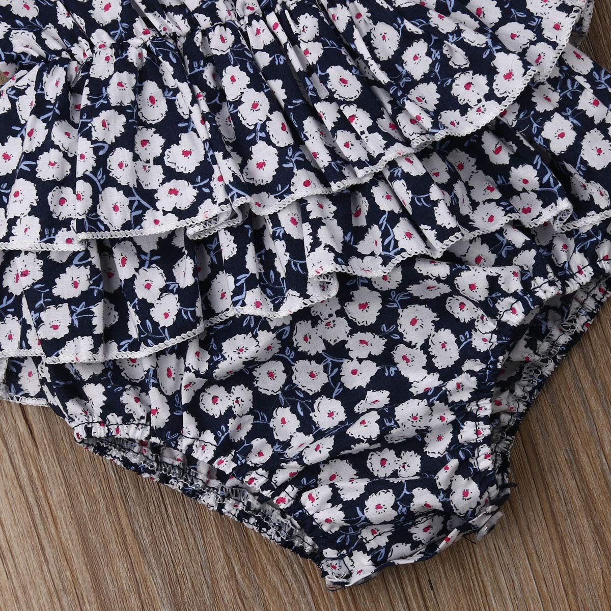 Lzxuan Newborn Baby Girl Romper Floral Print Vintage Jumpsuit Outfit Playsuit Clothes