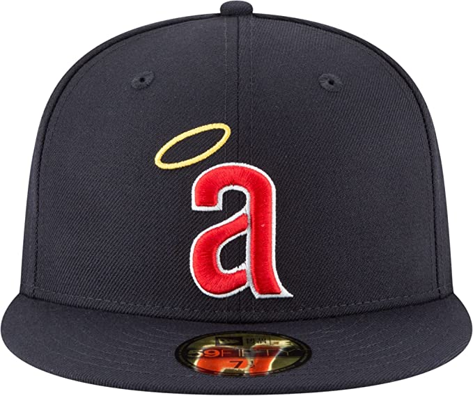 promo code de901 25610 Amazon.com  New Era 59Fifty Hat California Angels Cooperstown 1971 Wool Navy  Blue Fitted Cap  Clothing