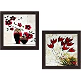 Wens 'Floral' Wall Hanging Painting (MDF, 35 cm x 71 cm x 2.5 cm, WSPC-4003)
