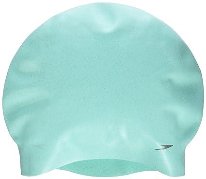 Speedo 8-09337B898 Bonnet de Bain Femme, Argent/Hot Orange/Oxid Grey, Taille Unique
