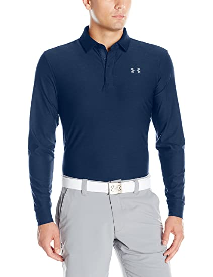 Under Armour Men's Playoff Long Sleeve Golf Polo, Academy/Graphite,  XXX-Large