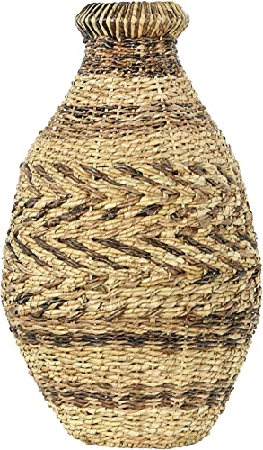 Creative Co-op 21.5″ H Handwoven Abaca Seagrass Floor Vase