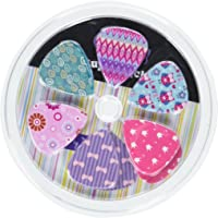Girly Guitar Picks Set - Medium Celluloid 12-piece- Unique Colorful Designs - Best Gifts for Girls Kids Teens Daughter Granddaughter Women - Thanksgiving Christmas New Year Holidays Presents