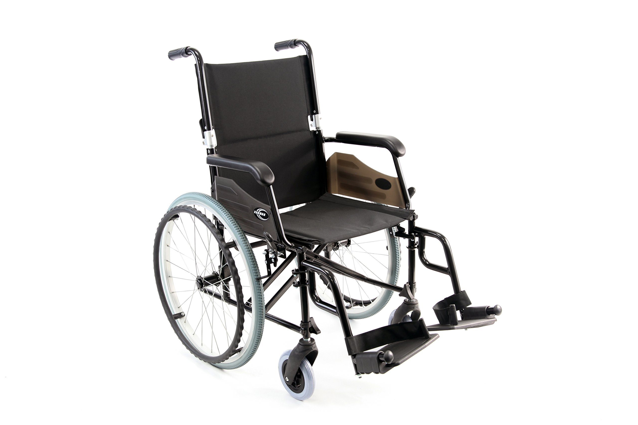 Karman Healthcare Wheelchair with Quick Release, Wheels, Black, 24 Pound